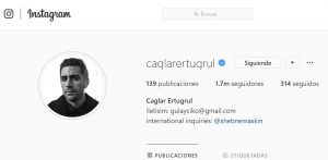 Caglar Ertugrul Instagram